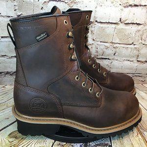 Red Wings Irish Setter Logger Steel Toe Boots 11 B